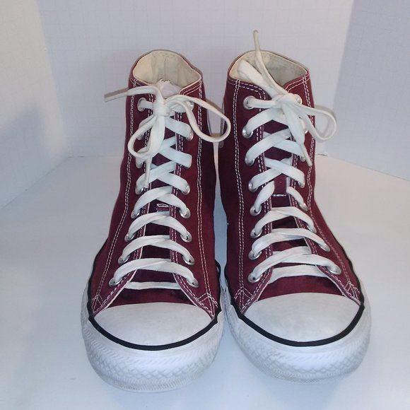 Converse Other - Converse Mens Burgundy Shoes Size 10
